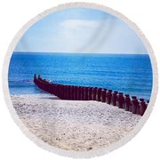 Long Beach Island Dreaming Round Beach Towel