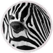 Long Eyelashes Round Beach Towel