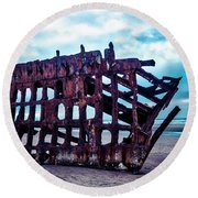 Long Forgotten Shipwreck Round Beach Towel