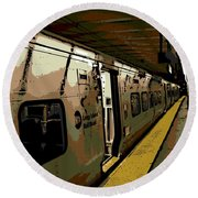 Long Island Railroad Round Beach Towel
