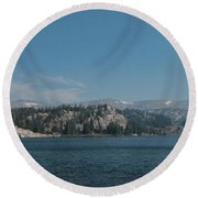 Long Lake Shoshone National Forest Round Beach Towel