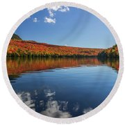 Long Pond From A Kayak Round Beach Towel