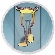 Long Tall Shadow Round Beach Towel by Uncle J's Monsters