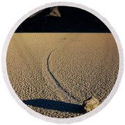 Long Tracks Round Beach Towel