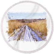 Long Way Artistic  Round Beach Towel