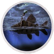 Long Way Home Round Beach Towel