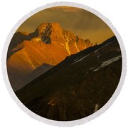 Long's Peak Round Beach Towel