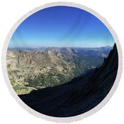 Longs Peak Trough Round Beach Towel