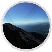 Longs Peak West Round Beach Towel