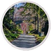 Longwood Gardens - Bridge Over Path Round Beach Towel