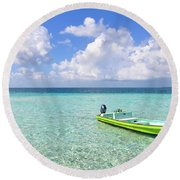Look At This Beautiful Blue Water Round Beach Towel