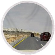 Look For America Round Beach Towel
