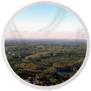 Round Beach Towel featuring the photograph Look Out Mountain by Debra Forand