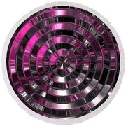 Look To The Center Round Beach Towel