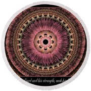 Look To The Lord Round Beach Towel