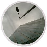 Round Beach Towel featuring the photograph Look Up by Anne Kotan