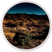 Looking Across The Hills Round Beach Towel