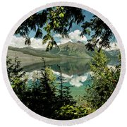 Round Beach Towel featuring the photograph Looking At Paradise by Annette Berglund