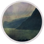 Looking At The Lake... Round Beach Towel