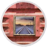 Round Beach Towel featuring the photograph Looking Back by James BO Insogna