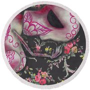 Looking Down Round Beach Towel by Abril Andrade Griffith