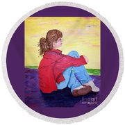 Looking For Hope Round Beach Towel