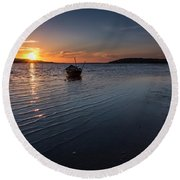 Round Beach Towel featuring the photograph Looking For Night by Edgar Laureano