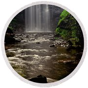 Round Beach Towel featuring the photograph Looking Glass Falls 009 by George Bostian