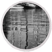 Round Beach Towel featuring the photograph Looking In The Water by Ana Mireles