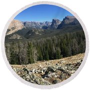 Looking Into The Bridger Wild Lands Round Beach Towel