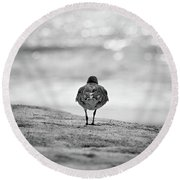 Looking Out To Sea Round Beach Towel