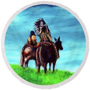 Looking Over Our Domain Round Beach Towel