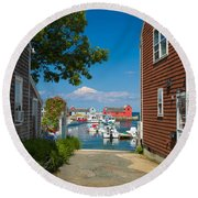 Looking Rockport Round Beach Towel