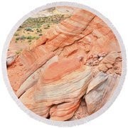 Round Beach Towel featuring the photograph Looking South In Valley Of Fire by Ray Mathis