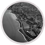 Looking South Toward Chicago From The Friendly Skies Round Beach Towel
