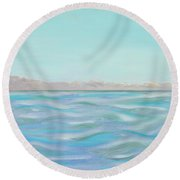 Looking South Tryptic Part 1 Round Beach Towel