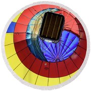 Looking Straight Up Round Beach Towel