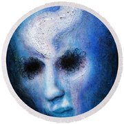 Looking Through The Darkness Round Beach Towel