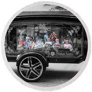 Looking Through The Glass Carriage Round Beach Towel