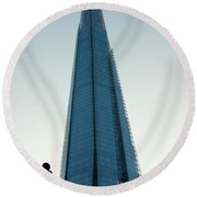 Looking Up At The Future Round Beach Towel