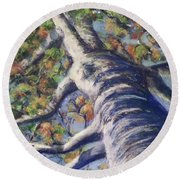 Looking Up - Fall Round Beach Towel