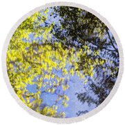 Round Beach Towel featuring the photograph Looking Up Or Down by Heidi Smith