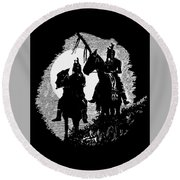 Lookouts Round Beach Towel by Lawrence Tripoli