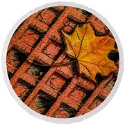 Round Beach Towel featuring the photograph Looks Like Another Leaf by Paul Wear