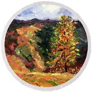 Loose Landscape Round Beach Towel by Janet Garcia