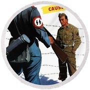 Loose Talk Can Cause -- Ww2 Propaganda Round Beach Towel