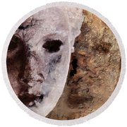 Loosing The Real You Behind The Mask Round Beach Towel by Gun Legler
