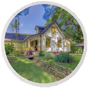 Lopinot House Round Beach Towel