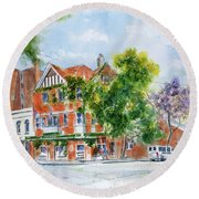 Lord Dudley Hotel Round Beach Towel