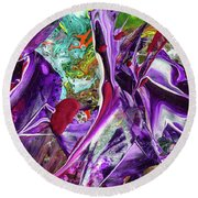 Lord Of The Rings Art - Colorful Modern Abstract Painting Round Beach Towel